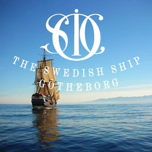 The Swedish Sailing Ship Gotheborg ship at sea and SOIC logo