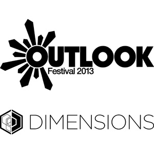 Outlook Festival and Dimensions Festival logos