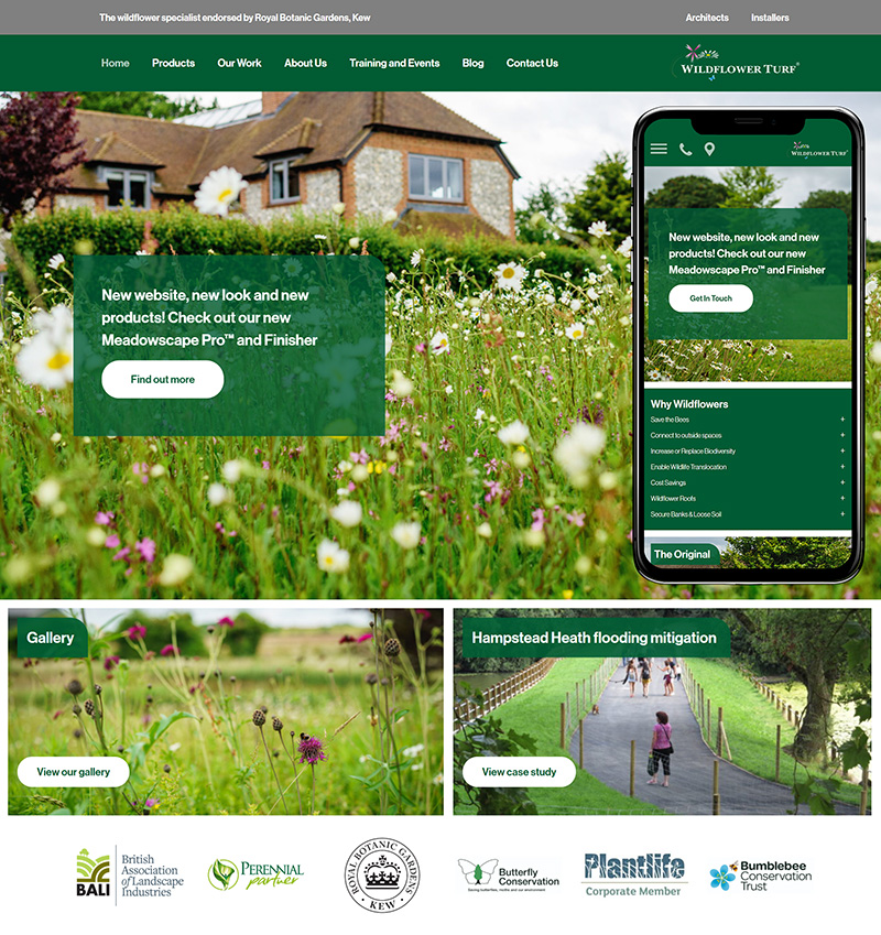Website Design Wildflower Turf SP001 Homepage Responsive 800x849Px72Dpi v2